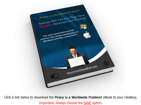 "Right-click this link and Save the ""Piracy is a Worldwide Problem!"" eBook to your Desktop."